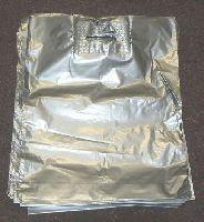 LDPE taška s C výsekom,štríbrná,vel.36x46