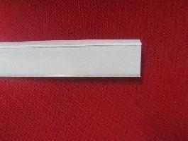 Cen. lišta se samolepkou a úhlem, bílá 625x39mm