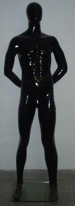 Pánska figurína čierná lakovaná s hlavou