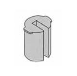 Plastová vložka zo zárezom 4-6mm