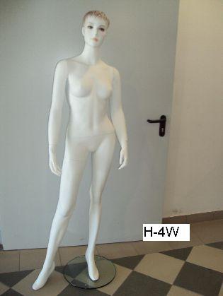 Dámska figurína bielej farby s hlavou
