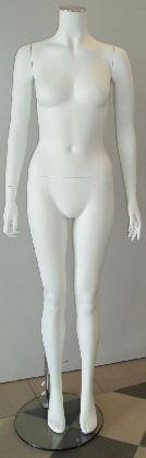 Dámska figurína bielej farby bez hlavy