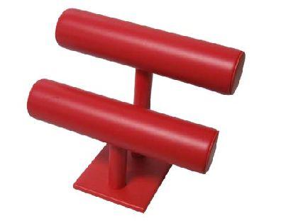 Zweistöckiger roter Halter für Armbänder