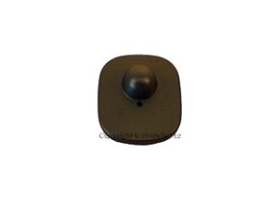 Pevné etikety  hranate 42x46mm ,čierne