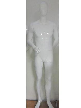 Pánsky manekýn bielý lakovaný
