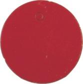 Visačky guľaté,červená farba, priemer 30mm