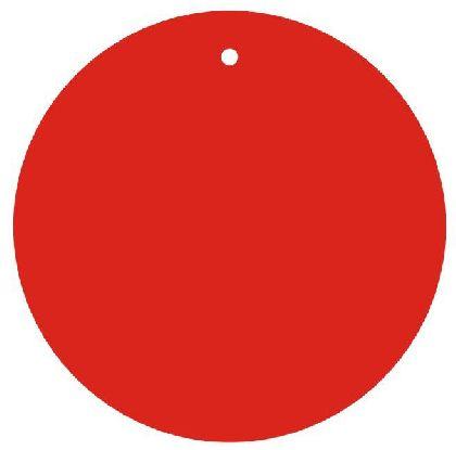 Visačky guľaté RED, priemer 80mm