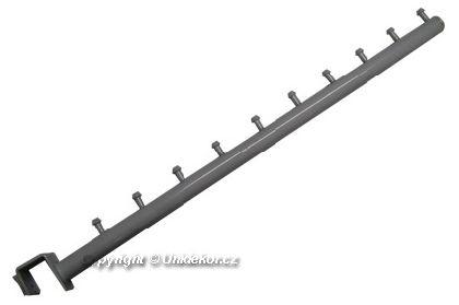 Šikmé rameno 40cm s 10valčekmi na jakl 20x20,biele