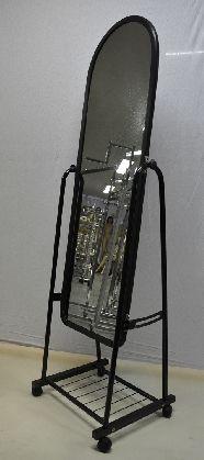 Pojazdené zrkadlo malé,farba čierné