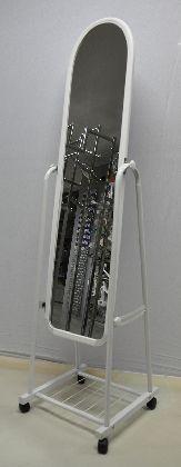 Pojazdené zrkadlo velké,farba bielé