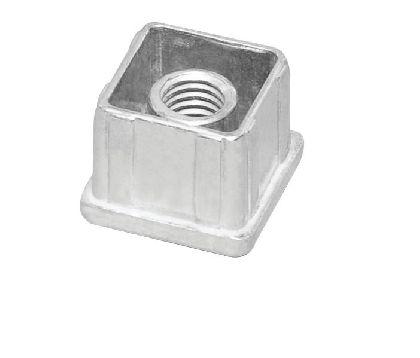 Legierte Einlage in das Vierkantrohr 25x25mm mit dem Gewinde M10