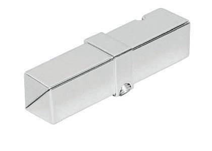 Verchromter Rohrverbinder für das Vierkantrohr 25x25x1,2mm
