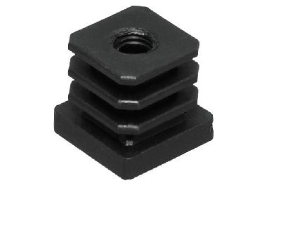 Plastová vložka so závitom M10 do jaklu 25x25mm.