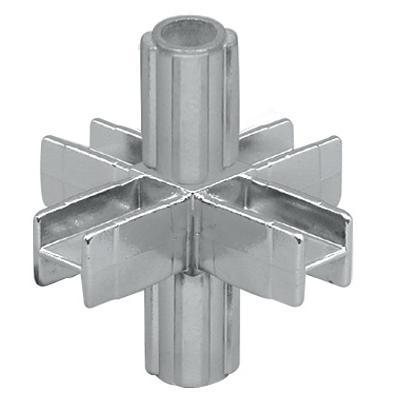 Legierter innerer Sechswegeverbinder für Vierkantrohr 25x25mm