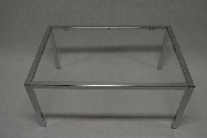 Pochrómovaný rám predajného stola 900x600x400