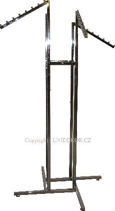 Pochromovaný štvorramenný stojan šíkmé ramená