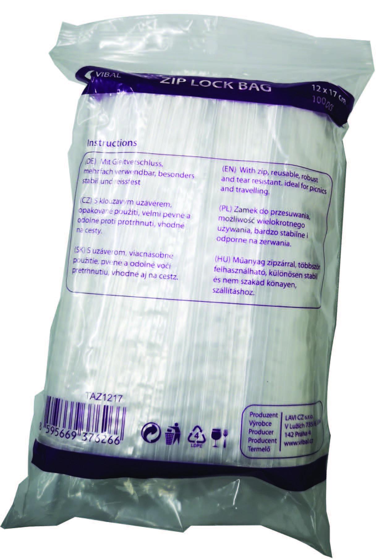 Rychlozavírací sáček 12 x 17cm (100ks/balení)