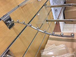 Vlnité rameno na slatwall O8mm,d:150mm, 5 kulicek