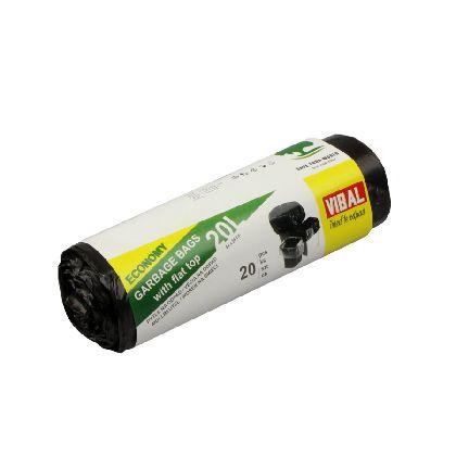 Odpad. pytle BASIC 20L, černá, 45x55cm, 20ksx80rol