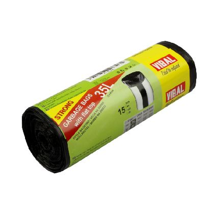 Odpad. pytle QUALITY 35L, černá, 52x65cm, 15ksx40r