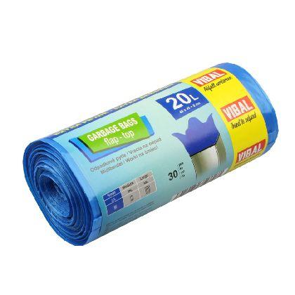 Odpad. pytle PREMIUM S-20L,modrá,48x57cm,30ksx20r