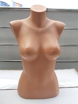 Busta dámska, telová farba, plastová, samostojaca