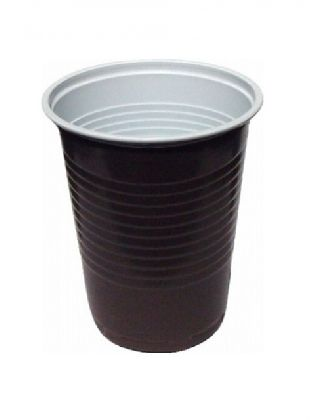 PP kelímok hnedobiely na kávu 200ml / ?70mm / 100ks