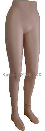 Nohy dámske, béžové, plastové a samostojaca