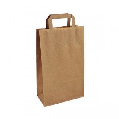 Papierová taška z kraftového papieru,hnedá,ploché držadlá,rozmery(Š+H*V):22+10*36CM.