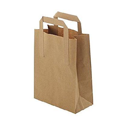 Papierová taška z kraftového papieru,hnedá,ploché držadlá,rozmery(Š+H*V):26+12*35CM.
