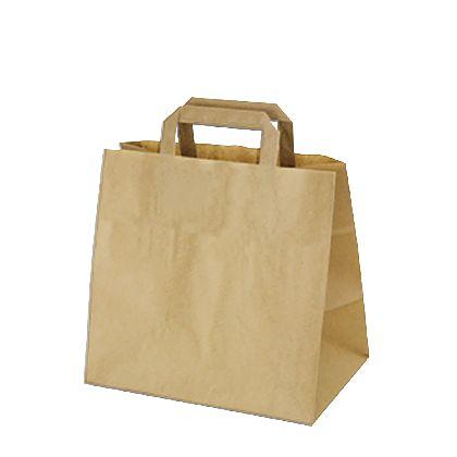 Papierová taška z kraftového papieru,hnedá,ploché držadlá,rozmery(Š+H*V):32+22*24CM.