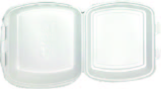 MENU BOX BFG 1 dílný, velký , bilý 200ks/kar , 50ks/bal