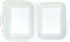 BOX-LUNCH 18,5x15,5 BÍLÝ ,250ks/kar , 125ks/bal