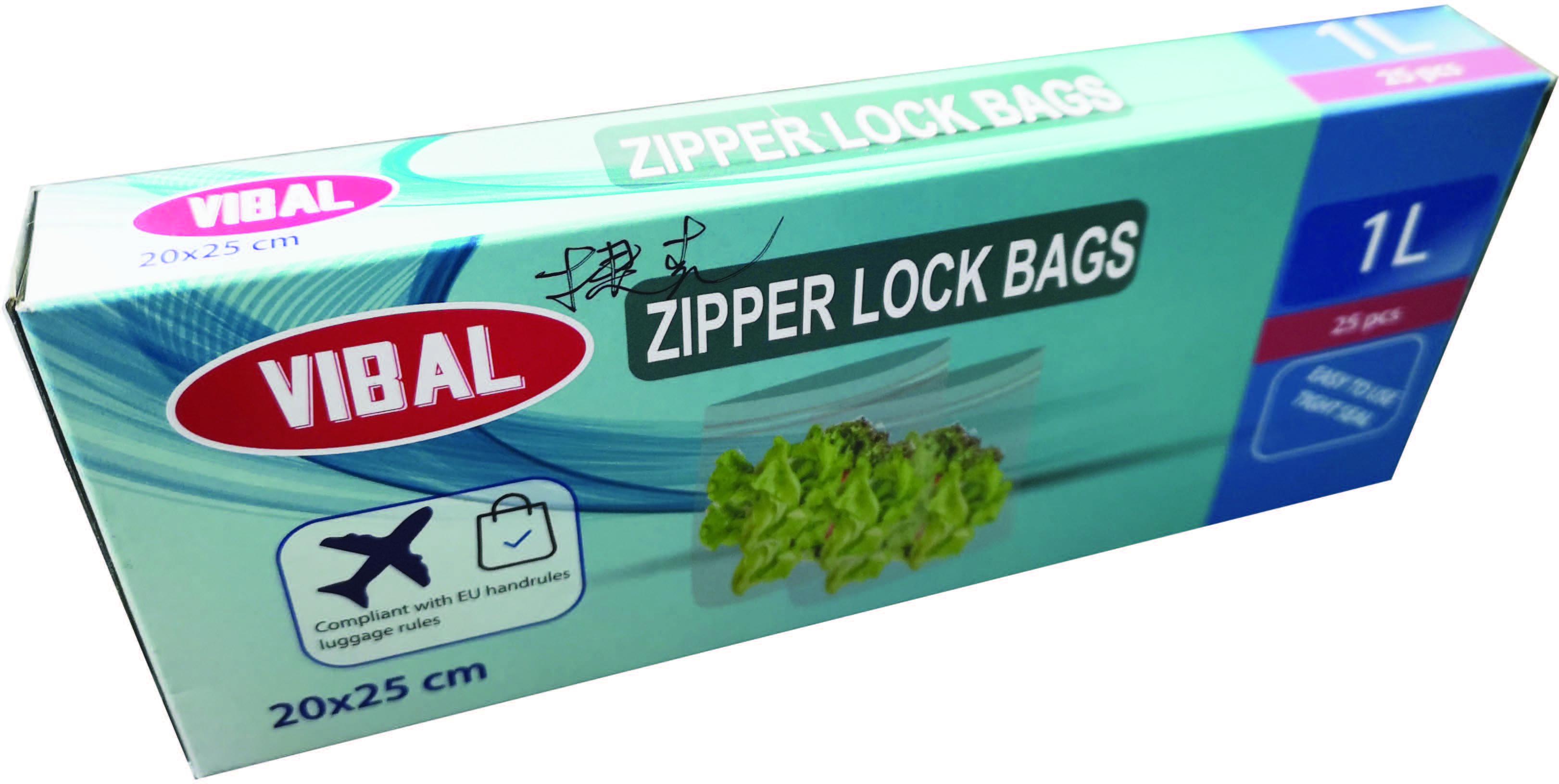 Zip sáček s posuvným uzávěrem 200x250mm,25ks/bal,24bal/kar