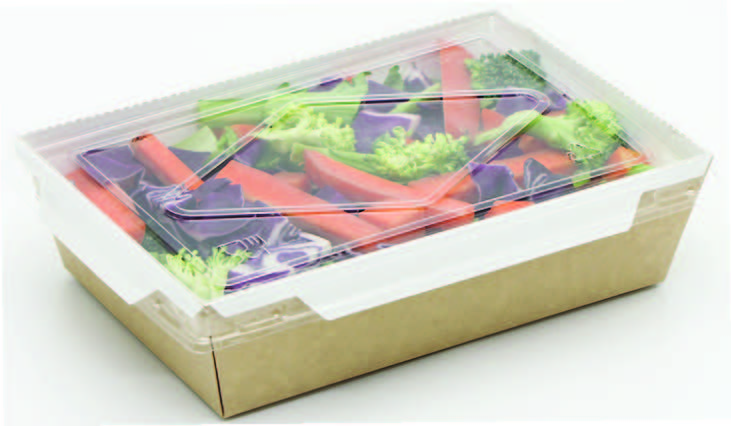 Menubox ECO friedly 1600ml, 211x153x60mm, 300gsm+18g,50ks/bal,4bal/kar