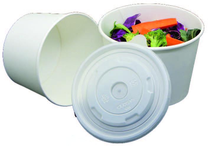 Míska papírová na polévku 975ml/32oz s PP víčkem,25ks/bal,20bal/kar