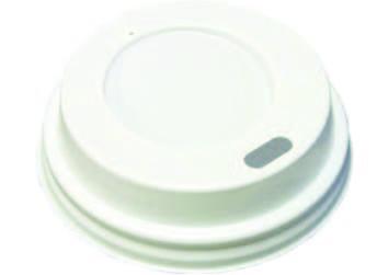 PS bílé víčko pro 200-250ml kelímek O80mm,100ks/bal,10bal/kar