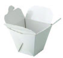 Box na nudle hranatý bílý 750ml/26oz, 50ks/bal,9bal/kar