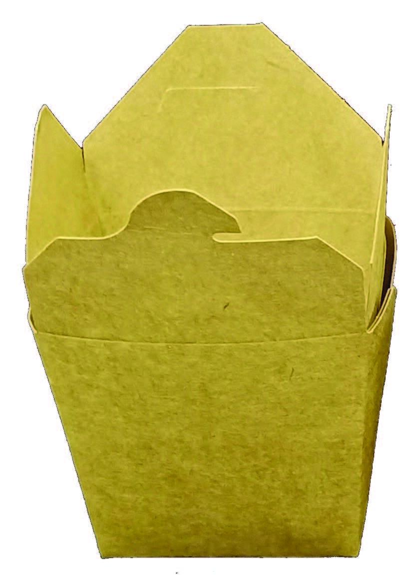 Box na nudle hranatý Kraft hnědý 450ml/16oz,50ks/bal,9bal/kar