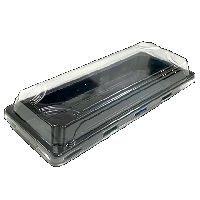 BOPS čierny Sushi box s viečkom 220x90x50,50ks/bal,8bal/kar
