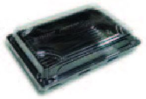 BOPS čierny Sushi box s viečkom 221x138x50,50ks/bal,8bal/kar