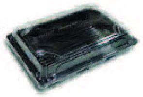BOPS čierny Sushi box s viečkom 241x185x50,50ks/bal,8bal/kar