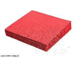 Obrúsok 33x33 červený, 1Vrst, 100ks / balenie