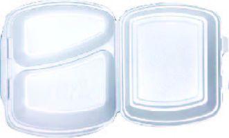 MENU BOX 2 dílný, bilý 125ks/bal