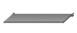 Dierovaná polica 66,3x40