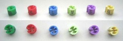 Minireitery farebné XS, balenie 50ks