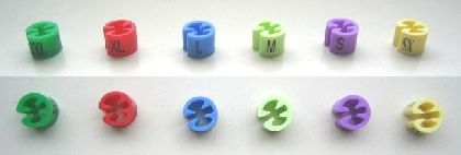Minireitery farebné L, balenie 50ks