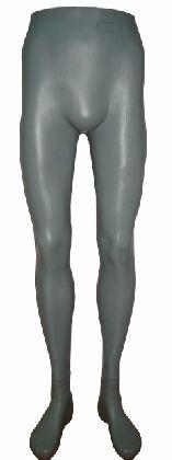 Nohy pánske, šedé, plastové a samostojaca