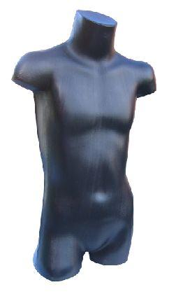 Plastové torzo 3/4 tela detské, čierna farba.