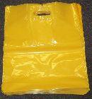 LDPE tašky s C výsekom, žlté, vel. 36x46cm